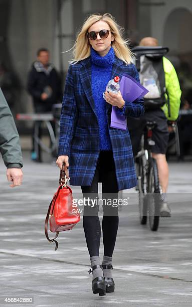 Fearne Cotton pictured at BBC Radio 1 on October 8 2014 in London England