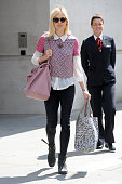 Fearne Cotton pictured leaving BBC Radio 1 on August 6 2014 in London England