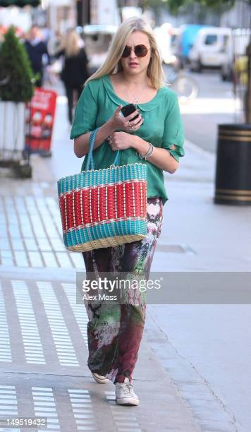 Fearne Cotton seen arriving at BBC Radio 1 on July 30 2012 in London England