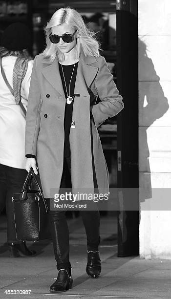 Fearne Cotton seen arriving at BBC Radio One on December 12 2013 in London England