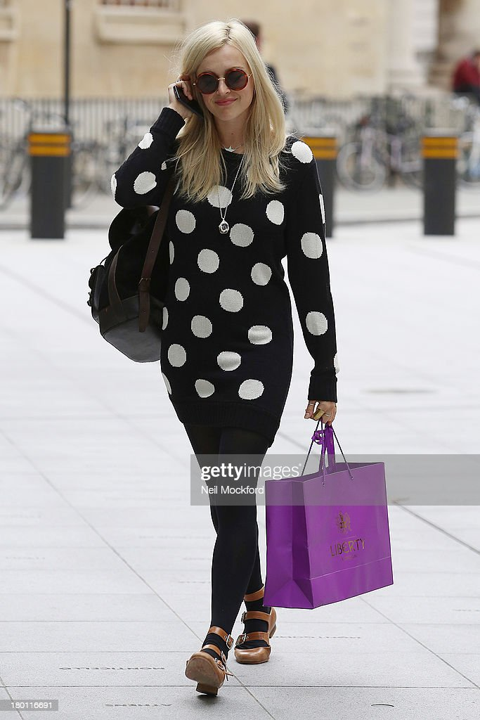 <a gi-track='captionPersonalityLinkClicked' href=/galleries/search?phrase=Fearne+Cotton&family=editorial&specificpeople=211497 ng-click='$event.stopPropagation()'>Fearne Cotton</a> seen arriving at BBC Radio One on September 9, 2013 in London, England.