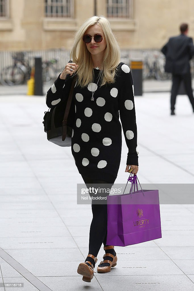 Fearne Cotton seen arriving at BBC Radio One on September 9, 2013 in London, England.