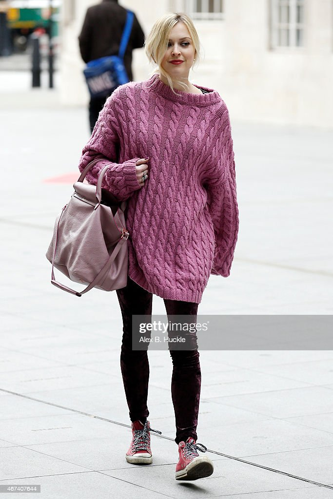 Fearne Cotton seen arriving at the BBC Radio 1 Studios on March 24 2015 in London England