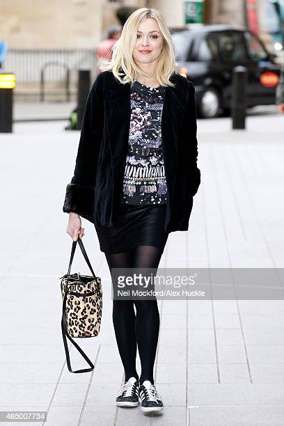 Fearne Cotton seen arriving at the BBC Radio 1 Studios on March 3 2015 in London England