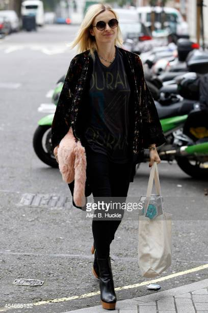 Fearne Cotton seen arriving at the BBC Radio 1 Studios on September 5 2014 in London England Photo by Alex Huckle/GC Images