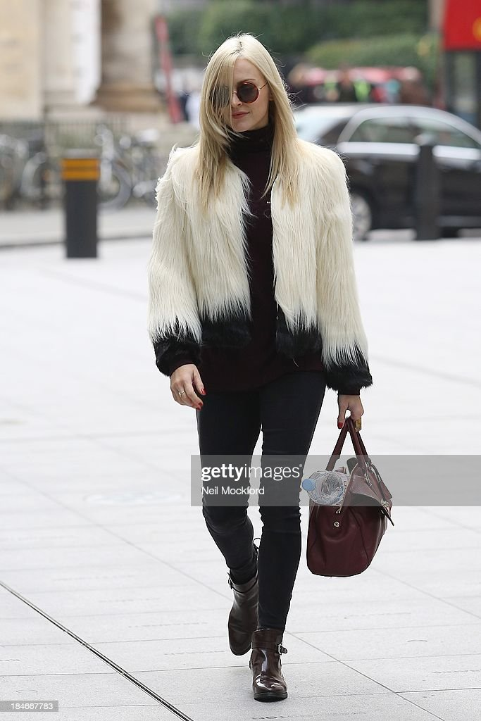 Fearne Cotton seen at BBC Radio One on October 15, 2013 in London, England.