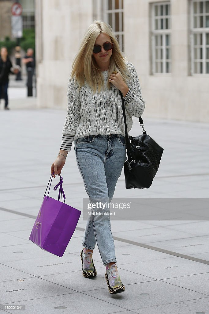 Fearne Cotton seen at BBC Radio One on September 10, 2013 in London, England.