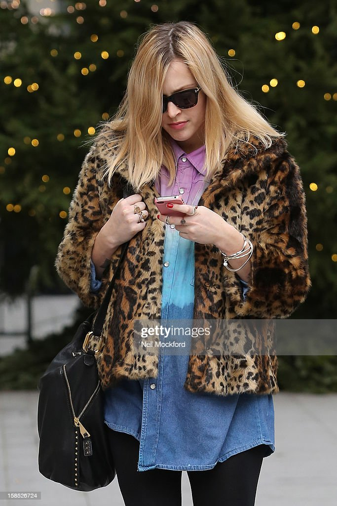 Fearne Cotton seen at the ITV Studios on December 18, 2012 in London, England.