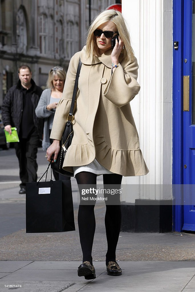 Fearne Cotton seen leaving BBC Radio One on March 20 2012 in London England