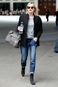 Fearne Cotton seen leaving the BBC Radio 1 Studios on August 18 2014 in London England