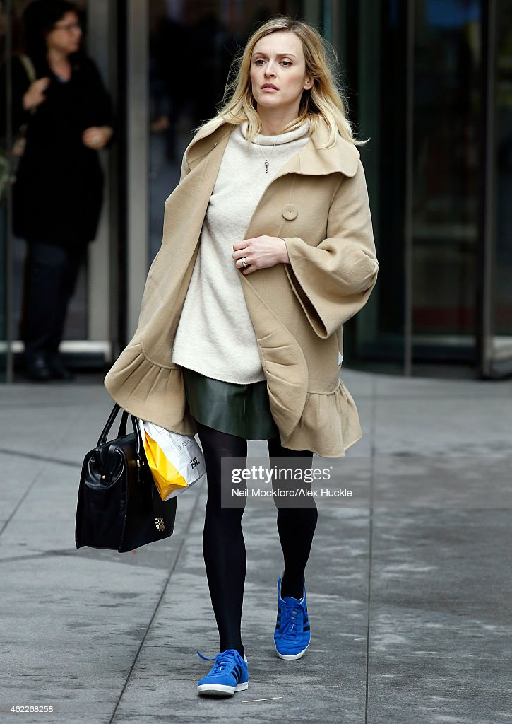 Fearne Cotton seen leaving the BBC Radio 1 Studios on January 26 2015 in London England
