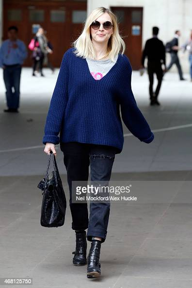 Fearne Cotton seen leaving the BBC Radio 1 Studios on March 30 2015 in London England