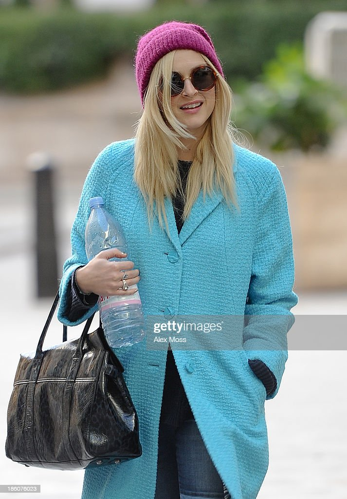 Fearne Cotton sighted arriving at BBC Radio 1 on October 28, 2013 in London, England.