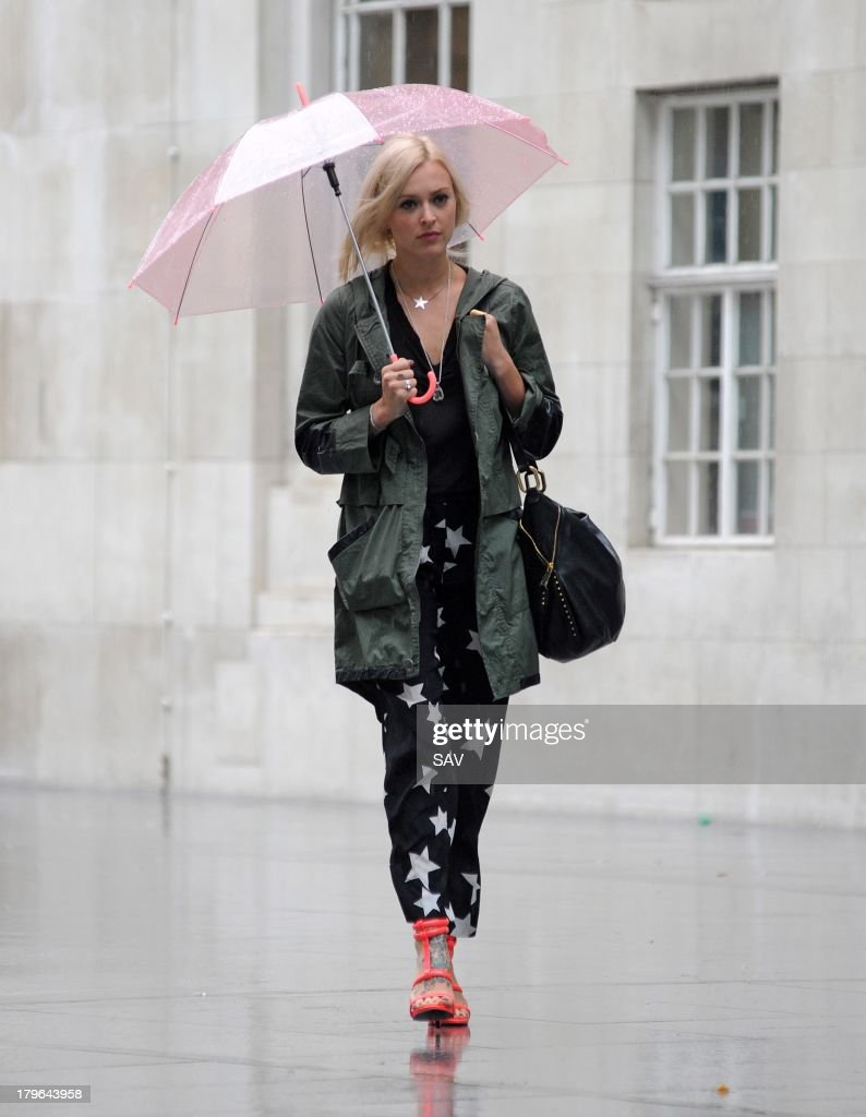 <a gi-track='captionPersonalityLinkClicked' href=/galleries/search?phrase=Fearne+Cotton&family=editorial&specificpeople=211497 ng-click='$event.stopPropagation()'>Fearne Cotton</a> sighted arriving at BBC Radio 1 on September 6, 2013 in London, England.