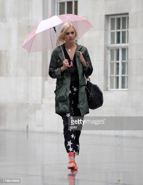 Fearne Cotton sighted arriving at BBC Radio 1 on September 6 2013 in London England