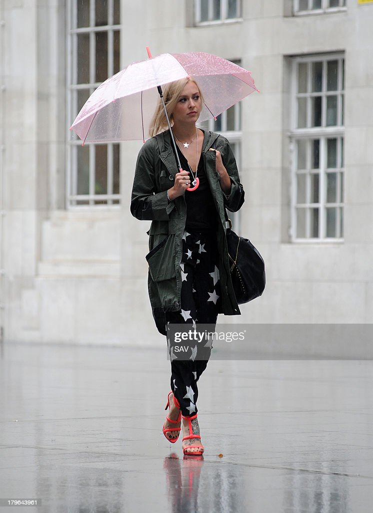 Fearne Cotton sighted arriving at BBC Radio 1 on September 6, 2013 in London, England.