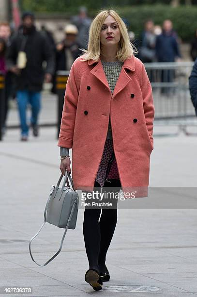 Fearne Cotton sighted arriving at BBC Radio One on February 4 2015 in London England