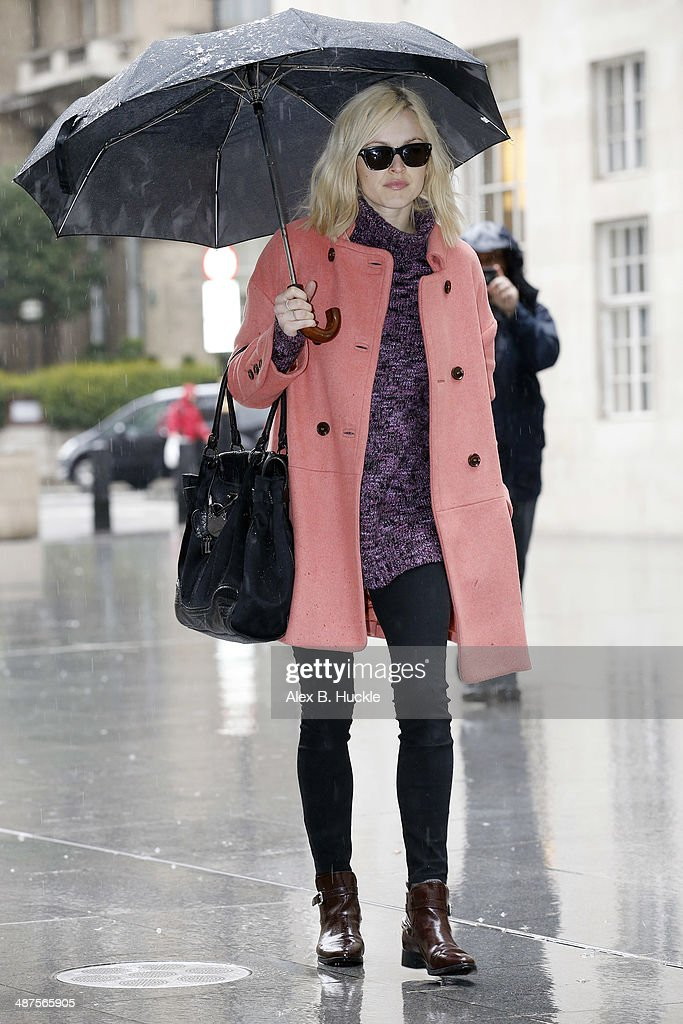 Fearne Cotton sighted arriving at the BBC Radio 1 Studios on May 1, 2014 in London, England.