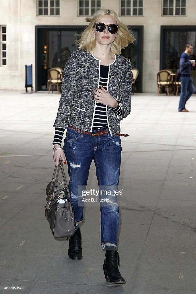 <a gi-track='captionPersonalityLinkClicked' href=/galleries/search?phrase=Fearne+Cotton&family=editorial&specificpeople=211497 ng-click='$event.stopPropagation()'>Fearne Cotton</a> sighted arriving for work at the BBC Radio 1 Studios March 31, 2014 in London, England.
