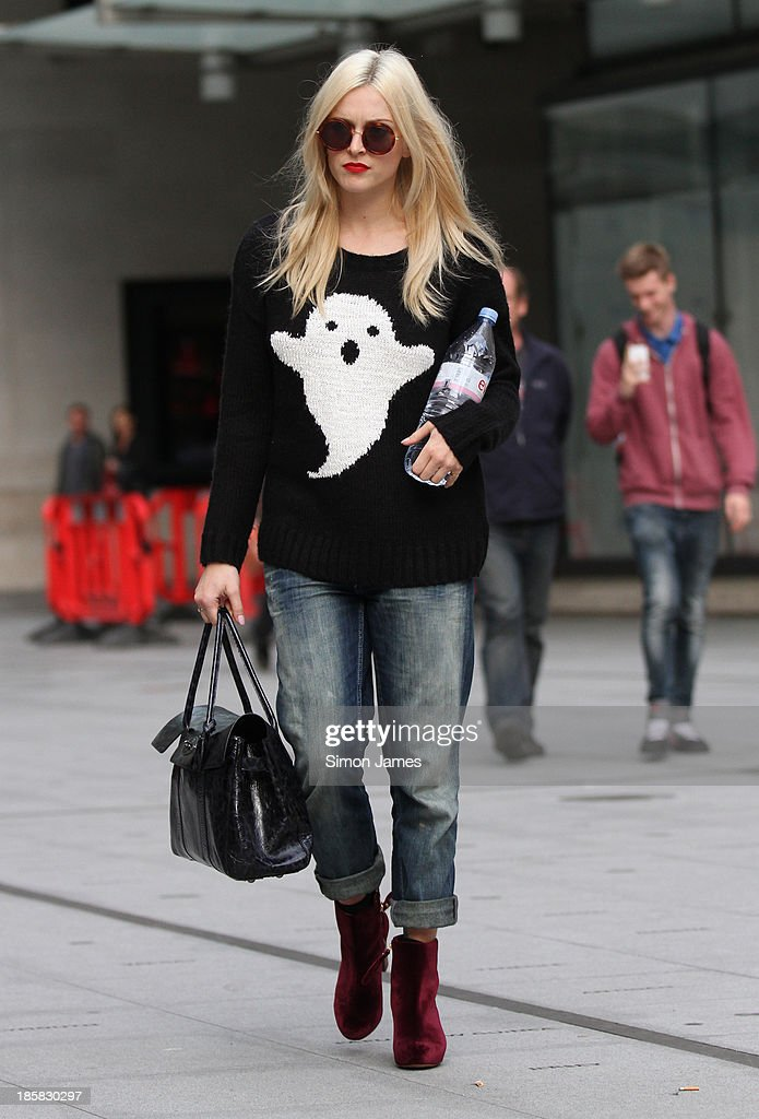 Fearne Cotton sighted at the BBC studios on October 25, 2013 in London, England.