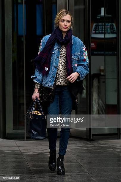 Fearne Cotton sighted departing BBC Radio 1 on January 28 2015 in London England