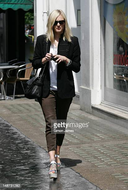 Fearne Cotton sighted leaving BBC radio one on July 19 2012 in London England