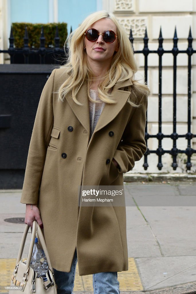 Fearne Cotton sighted leaving BBC Radio One on October 30, 2013 in London, England.