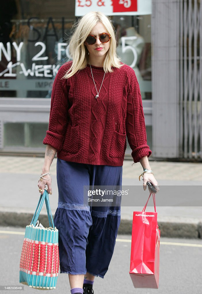 Fearne Cotton sighted leaving Radio BBC one on July 12 2012 in London England