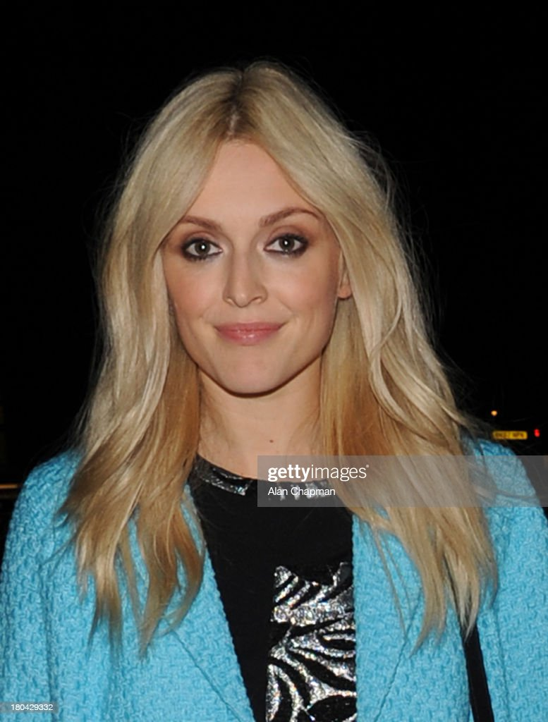 <a gi-track='captionPersonalityLinkClicked' href=/galleries/search?phrase=Fearne+Cotton&family=editorial&specificpeople=211497 ng-click='$event.stopPropagation()'>Fearne Cotton</a> sighting leaving the <a gi-track='captionPersonalityLinkClicked' href=/galleries/search?phrase=Fearne+Cotton&family=editorial&specificpeople=211497 ng-click='$event.stopPropagation()'>Fearne Cotton</a> Fashion Show, Claridges on September 12, 2013 in London, England.