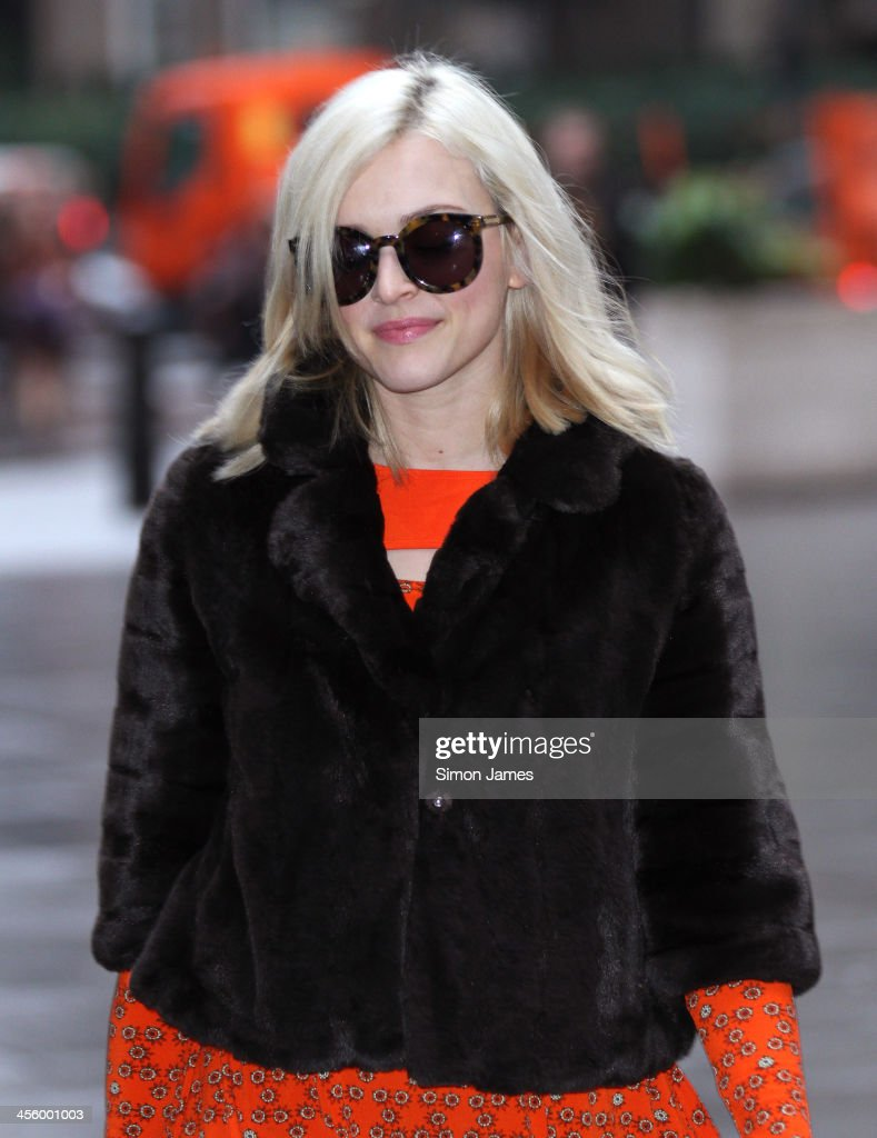 Fearne Cotton sighting on December 13, 2013 in London, England. The BBC Radio 1 DJ and tv presenter, 32, announced via social media yesterday evening her engagement to Jesse Wood, 37.