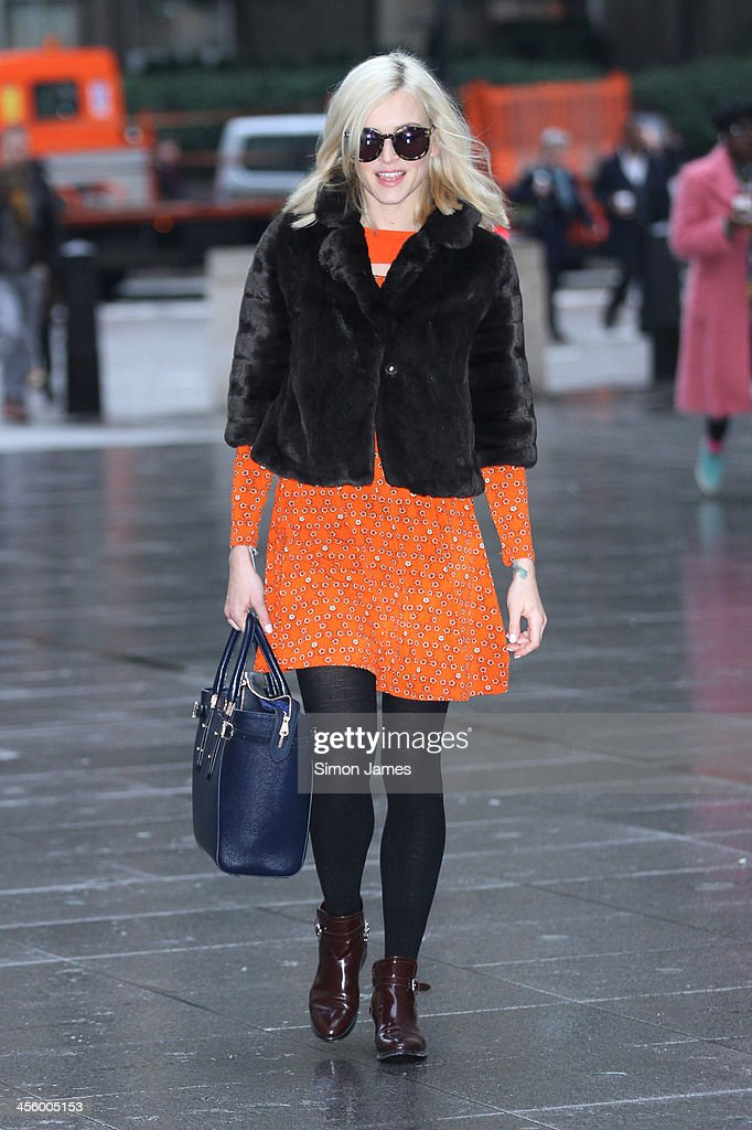 Fearne Cotton sighting on December 13, 2013 in London, England. The BBC Radio 1 DJ and tv presenter, 32, announced via social media yesterday evening, her engagement to Jesse Wood, 37.