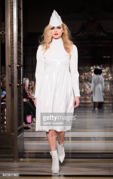 Fearne Cotton walks the runway at the Pam Hogg show during the London Fashion Week February 2017 collections on February 19 2017 in London England