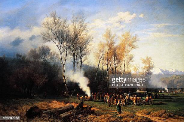 Feasts and sacrifices to the god Terminus in the month of February painting by Victor Benisson