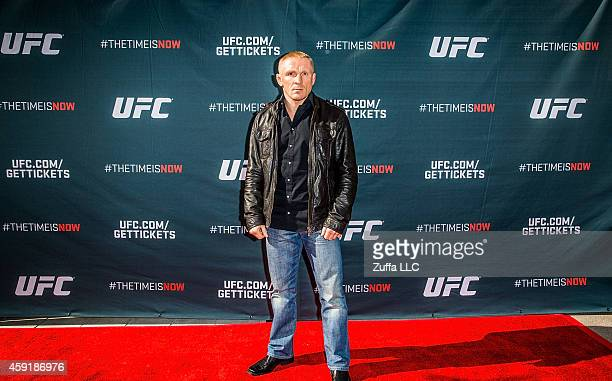 UFC featherweight Dennis Siver arrives at the UFC Time Is Now press conference at The Smith Center for the Performing Arts on November 17 2014 in Las...