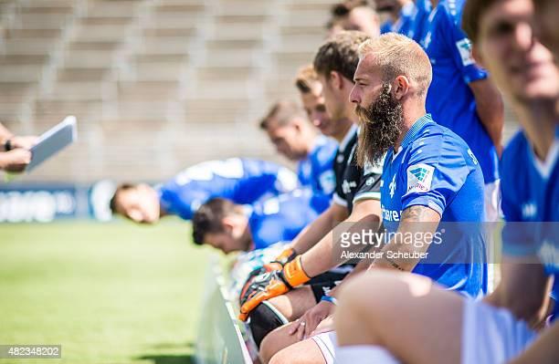 Feature Marco Sailer during the team presentation of SV Darmstadt 98 at MerckStadion am Boellenfalltor on July 30 2015 in Darmstadt Germany