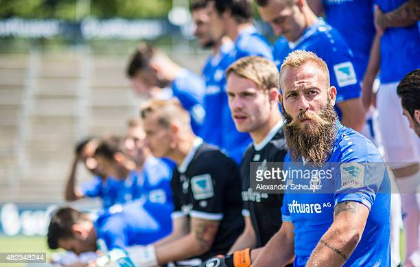 Feature Marco Sailer during the team presentation of SV Darmstadt 98 at MerckStadion am Boellenfalltor on July 30 2015 in Darmstadt Germany