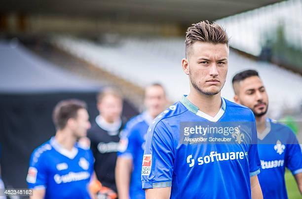 Feature Noel Wembacher poses during the team presentation of SV Darmstadt 98 at MerckStadion am Boellenfalltor on July 30 2015 in Darmstadt Germany
