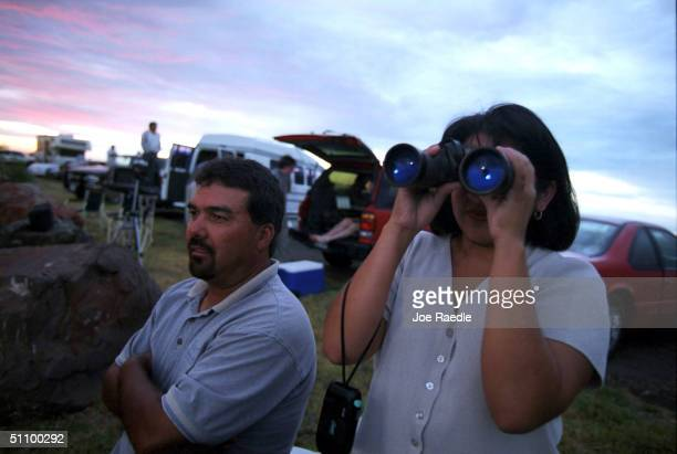 Duvie Casillas And His Wife Vivi Casillas From Ft Stockton Texas Found A Vantage Point To Try And Spot The Marfa Lights During The Marfa Lights...