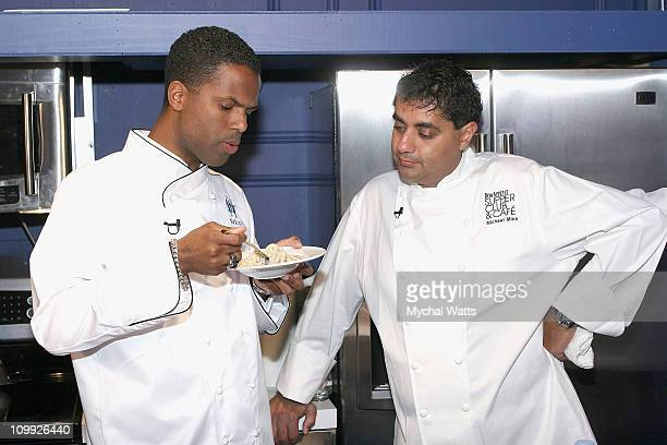 Featured Chef Michael Mina and AJ Calloway attend Douglas Hannant's 10th Year Anniversary at Bon Appetit Supper Club on October 26 2007 in New York...