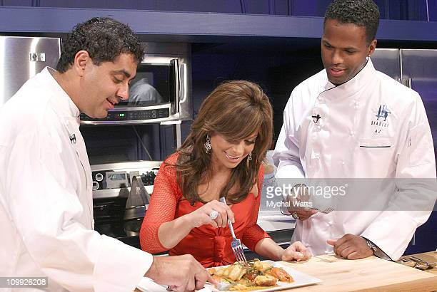 Featured Chef Michael Mina Paula Abdul and AJ Calloway attend Douglas Hannant's 10th Year Anniversary at Bon Appetit Supper Club on October 26 2007...