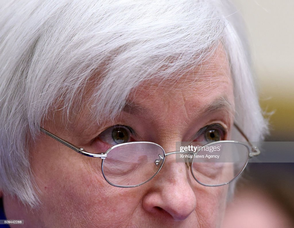 C., Feb. 10, 2016 -- U.S. Federal Reserve Chairwoman Janet Yellen testifies before the Committee on Financial Services of the U.S. House of Representatives on Capitol Hill in Washington D.C., the United States, Feb. 10, 2016. Janet Yellen on Wednesday signals that the Fed still keeps door open to further interest rate hikes, but flagging risks that could delay any further moves.