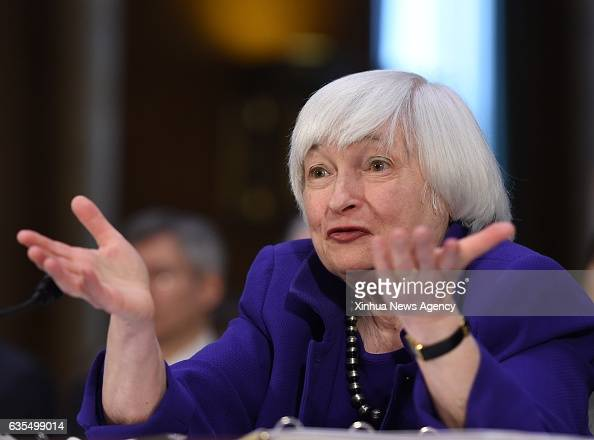 WASHINGTON Feb 14 2017 US Federal Reserve chairwoman Janet Yellen testifies before the Senate Banking Housing and Urban Affairs Committee on the...