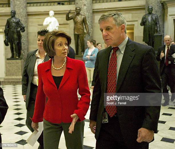 House Speaker Nancy Pelosi DCalif with her national security advisor Mike Sheehy walks to the House floor House Republicans prepared to leave the...