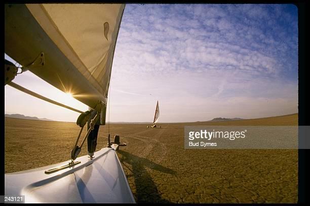 General view of land sailing Mandatory Credit Bud Symes /Allsport