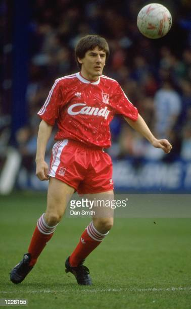 Peter Beardsley of Liverpool in action during the FA Cup 6th Round match against Queens Park Rangers played at Loftus Road in London england The...