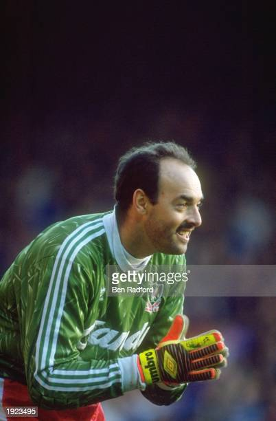 Portrait of Liverpool goalkeeper Bruce Grobbelaar during a Barclays League Division One match against Everton at Anfield in Liverpool England...