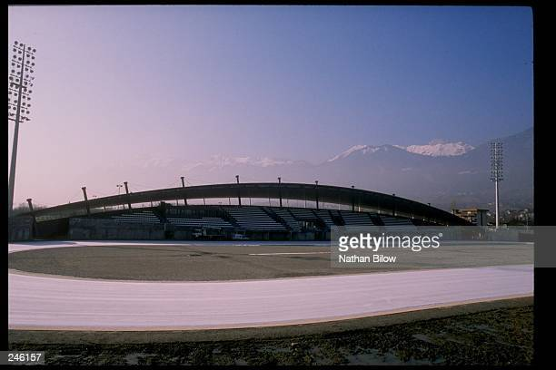 General view of a stadium in Albertville France which will be the site of the 1992 Winter Olympics