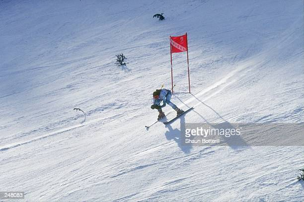General view of the action during the women''s giant slalom during the Olympic Games in Albertville France Mandatory Credit Shaun Botterill /Allsport