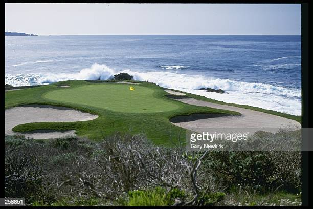 View of the seventh hole at the Pebble Beach Golf Course Mandatory Credit Gary Newkirk /Allsport