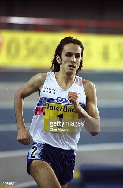 Grant Graham of Great Britain in action during the 1500 metres event at the Interflora competition between Great Britain and France in Glasgow...